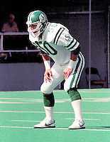 Jerry Friesen Saskatchewan Roughriders linebacker 1984. Copyright photograph Scott Grant