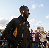 8th September 2017, Pride Park Stadium, Derby, England; EFL Championship football, Derby County versus Hull City; Fikayo Tomori of Hull City arriving at Pride Park Stadium before the match