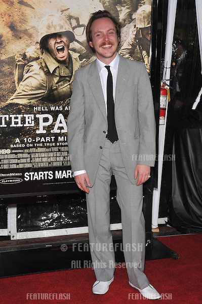"Tom Budge at the premiere of his new HBO miniseries ""The Pacific"" at Grauman's Chinese Theatre, Hollywood..February 24, 2010  Los Angeles, CA.Picture: Paul Smith / Featureflash"
