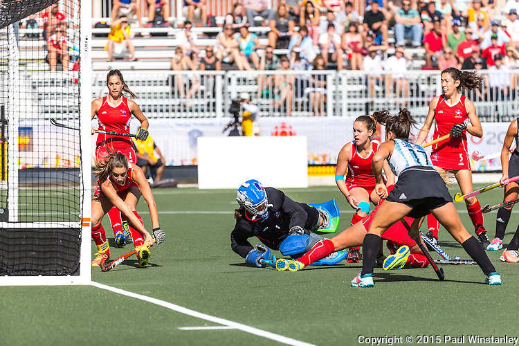 Argentina Women vs Chile Women at Pan Am Games 2015 in Toronto, Ontario, Canada