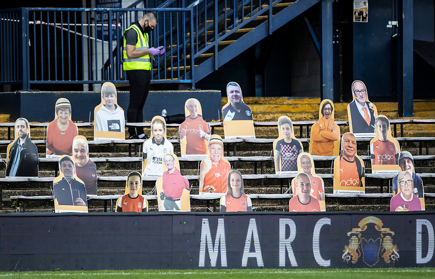 Cardboard cut-outs of fans in the stands<br /> <br /> Photographer Andrew Kearns/CameraSport<br /> <br /> The EFL Sky Bet Championship - Luton Town v Preston North End - Saturday 20th June 2020 - Kenilworth Road - Luton<br /> <br /> World Copyright © 2020 CameraSport. All rights reserved. 43 Linden Ave. Countesthorpe. Leicester. England. LE8 5PG - Tel: +44 (0) 116 277 4147 - admin@camerasport.com - www.camerasport.com