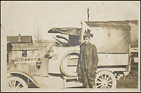 BNPs.co.uk (01202 558833)<br /> Pic: Bonhams/BNPS<br /> <br /> A WWI signed photo-postcard of Walt Disney with his Red Cross ambulance, estimate &pound;39,000.<br /> <br /> A one-of-a-kind scrapbook containing legendary cartoonist Walt Disney's earliest drawings that hint at the origins of Mickey Mouse has emerged for sale for a staggering &pound;130,000.<br /> <br /> The incredible notebook features five pages of patriotic WWI artwork drawn by Disney in 1918 when he was just a 17-year-old amateur cartoonist.<br /> <br /> Disney drew the sketches in a scrapbook handed out by the Chicago Public Library to families of First World War servicemen - and experts say they are the earliest Disney drawings ever to come to market. <br /> <br /> The scrapbook is tipped to fetch $200,000 - around &pound;130,000 - when it goes under the hammer at Bonhams auctioneers on November 23.