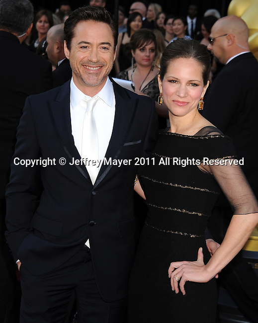 HOLLYWOOD, CA - FEBRUARY 27: Susan Downey and Robert Downey Jr. arrive at the 83rd Annual Academy Awards held at the Kodak Theatre on February 27, 2011 in Hollywood, California.