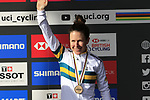 Bronze medal for Amanda Spratt (AUS) finishes 3rd place at the end of the Women Elite Road Race of the UCI World Championships 2019 running 149.4km from Bradford to Harrogate, England. 28th September 2019.<br /> Picture: Eoin Clarke | Cyclefile<br /> <br /> All photos usage must carry mandatory copyright credit (© Cyclefile | Eoin Clarke)