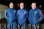 Na Gaeil management captain Owen Joy (Selector), Donal Rooney (Manager) and Richie Barrett (Selector)