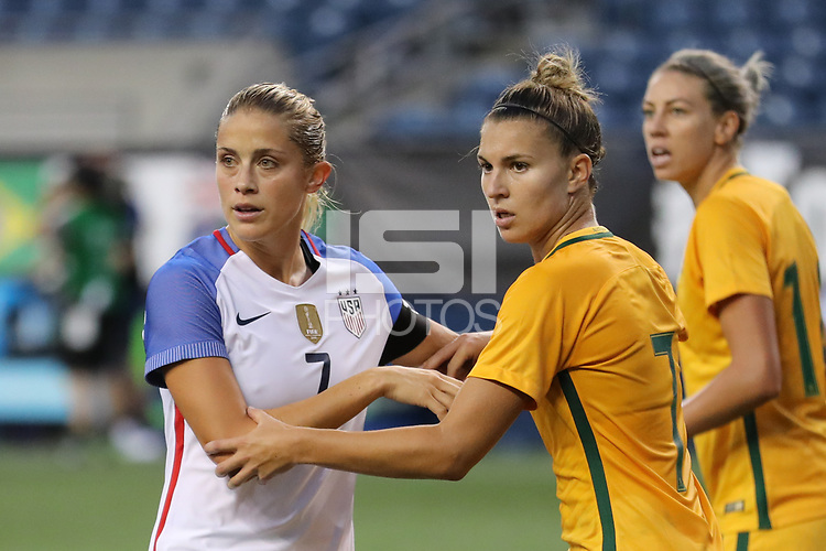 Abby Dahlkemper, Steph Catley | International Sports Images