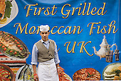 Hamid Amin and his new Morrocan Fish stall at Church Street Market.