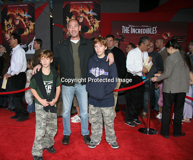 Miguel Ferrer &amp; sons<br />&quot;The Incredibles&quot; Film Premiere - Arrivals<br />El Capitan Theatre<br />Hollywood, CA, USA<br />Sunday, October 24, 2004<br />Photo By Celebrityvibe.com/Photovibe.com, <br />New York, USA, Phone 212 410 5354, <br />email: sales@celebrityvibe.com