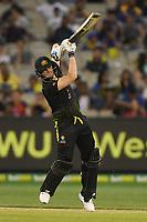 1st November 2019; Melbourne Cricket Ground, Melbourne, Victoria, Australia; International T20 Cricket, Australia versus Sri Lanka; Steven Smith of Australia drives the ball - Editorial Use