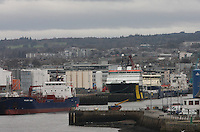General view of Aberdeen harbour.