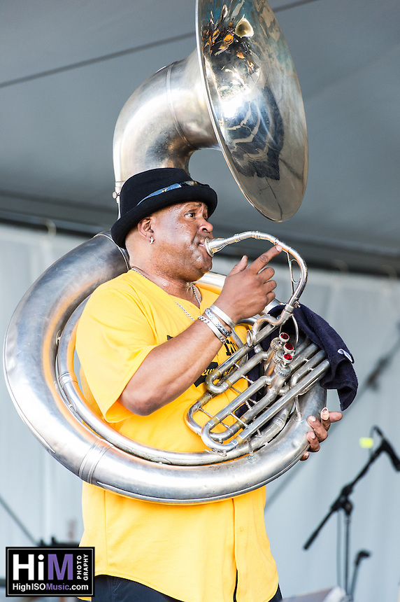 Kirk Joseph's Tuba Tuba performs at the 2012 Jazz and Heritage Festival in New Orleans, LA on April 29, 2012.  © HIGH ISO Music, LLC / Retna, Ltd.,