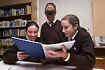 Sarah McDonald, Sarah Markey and Sarah Ann Gregory at the lauch of Marymount National School's Millenium Book..Picture Paul Mohan Newsfile