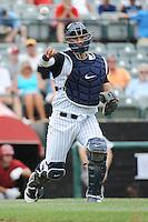 Trenton Thunder catcher Jose Gil (36) during game against the Altoona Curve at ARM & HAMMER Park on July 24, 2013 in Trenton, NJ.  Altoona defeated Trenton 4-2.  Tomasso DeRosa/Four Seam Images