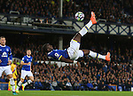 Yannick Bolasie of Everton attempts an overhead kick during the Premier League match at Goodison Park Stadium, Liverpool. Picture date: September 30th, 2016. Pic Simon Bellis/Sportimage