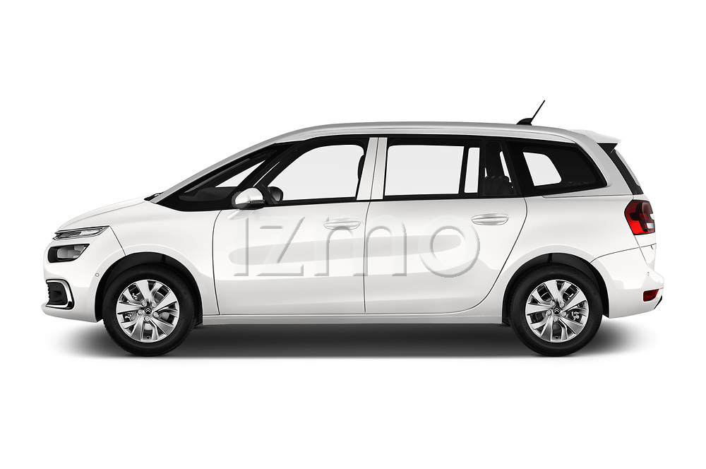 Car driver side profile view of a 2018 Citroen Grand C4 Spacetourer Feel 5 Door MPV