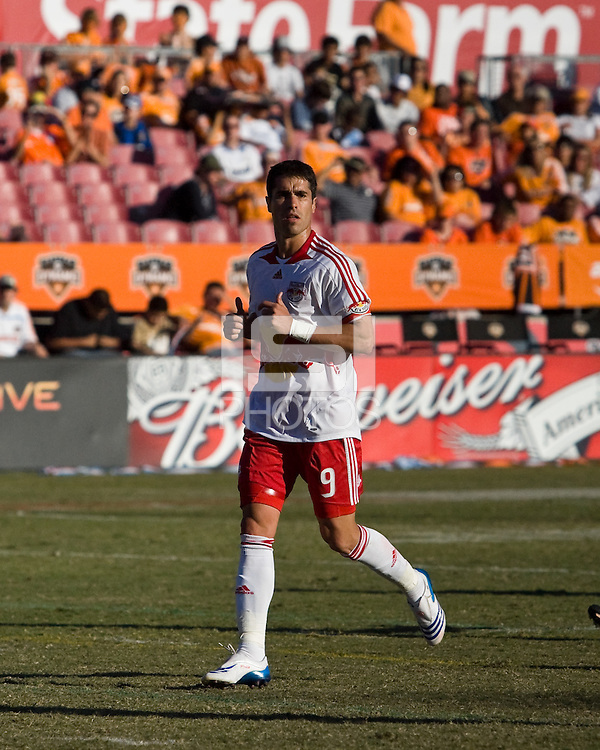 New York Red Bulls forward Juan Pablo Angel (9).  New York Red Bulls defeated Houston Dynamo 3-0 for an aggregate  score of 4-1 over Houston Dynamo   at Robertson Stadium in Houston, TX on November 9, 2008 in the second leg of the Western Conference semifinals.  Photo by Wendy Larsen/isiphotos.com