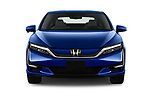 Car photography straight front view of a 2017 Honda Clarity Electric 5 Door Hatchback