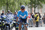 Nairo Quintana (COL) Movistar Team arrives at sign on before the start of Stage 4 of the 2019 Tour de France running 213.5km from Reims to Nancy, France. 9th July 2019.<br /> Picture: Colin Flockton | Cyclefile<br /> All photos usage must carry mandatory copyright credit (© Cyclefile | Colin Flockton)