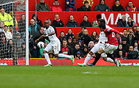 Pictured: (L-R) Dwight Tiendalli, Shinji Kagawa.<br /> Sunday 12 May 2013<br /> Re: Barclay's Premier League, Manchester City FC v Swansea City FC at the Old Trafford Stadium, Manchester.