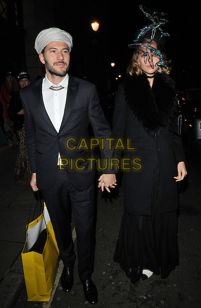 Boniface Verney-Carron and Arizona Muse at the Animal Ball 2016 hosted by the Elephant Family, Victoria House Basement, Bloomsbury Square, London, England, UK, on Tuesday 22 November 2016. <br /> CAP/CAN<br /> &copy;CAN/Capital Pictures
