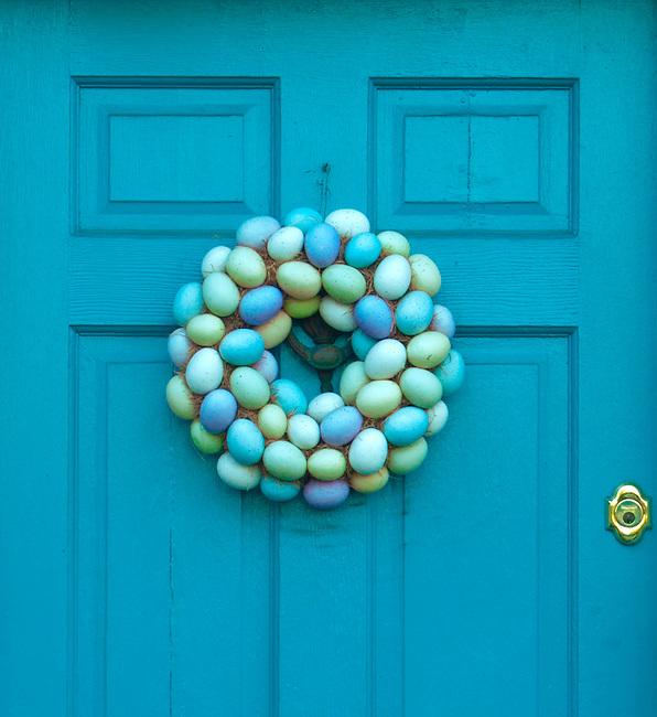 Blue Door East Bay Street,Easter Eggs, Charleston South Carolina