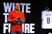 Eric Wynalda during the unveiling of the USA Men's National Team new uniform at Niketown in NYC, NY, on April 29, 2010.