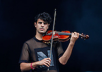 Milan Neil Amin-Smith of Clean Bandit Performs on the Violin  during The New Look Wireless Music Festival at Finsbury Park, London, England on Sunday 05 July 2015. Photo by Andy Rowland.