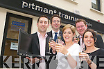 MERGING BUSINESS: Pitman Traing Centre based in Tralee are teaming up with Chase.Resourcing, Killorglin, to help graduates find successful work placements after training..Pictured back l-r were: Kristian O'Donovan, (Pitman Training), David Barton (director of.Pitman Training) and Fred McDonogh (Chase Resourcing). Front l-r were: Christina.O'Sullivan (Pitman Training) and Kim McCord (Pitman Training).