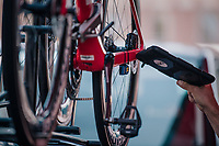 UCI mechanical doping scanner checking the Team Trek-Segafredo teambikes<br /> <br /> Stage 9: Arras Citadelle &gt; Roubaix (154km)<br /> <br /> 105th Tour de France 2018<br /> &copy;kramon
