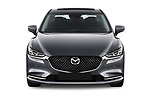 Car photography straight front view of a 2018 Mazda Mazda6 Skycruise 4 Door Sedan