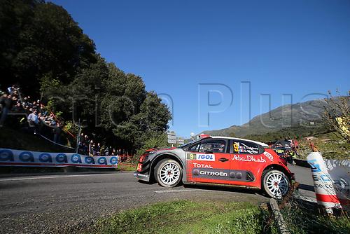 April 8th 2017, Island of Corsica; WRC Rally of Corsica, Day 2; 9- Stephane LEFEBVRE (FRA) Gabin MOREAU (FRA) CITROEN C3 WRC RC1 WRC