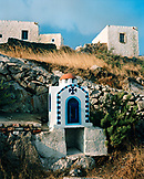 GREECE, Patmos, Dodecanese Island, roadside shrine
