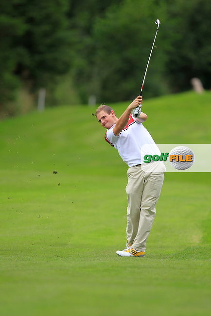 Declan Reidy (Co. Sligo) on the 3rd during Day 2 of the Irish Youths Amateur Close Championship at Claremorris Golf Club on Thursday 29th August 2013 <br /> Picture:  Thos Caffrey/ www.golffile.ie