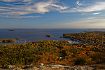 View from Mt. Battie, Camden Hills State Park, Knox County, Maine, USA