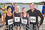 from left Lucy Horan, Michelle Greaney, Linda Duggan and Martin Duggan pictured at the Rose of Tralee International 10k Race in Tralee on Sunday.