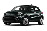 Stock pictures of low aggressive front three quarter view of 2019 Fiat 500X City-Cross 5 Door SUV Low Aggressive