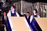 (L-R) Tomoyuki Hirase, Nami Otake, <br /> JULY 24, 2017 : <br /> The countdown event Tokyo 2020 Flag Tour Festival and 3 Years to Go to the Tokyo 2020 Games, <br /> at Tokyo Metropolitan Buildings in Tokyo, Japan. <br /> (Photo by Yohei Osada/AFLO SPORT)