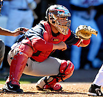 17 March 2007: Washington Nationals catcher Jesus Flores in action against the New York Mets at Tradition Field in Port St. Lucie, Florida...Mandatory Photo Credit: Ed Wolfstein Photo