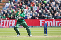 Shakib Al Hasan (Bangladesh) guides the ball through the vacant gully area to third man during England vs Bangladesh, ICC World Cup Cricket at Sophia Gardens Cardiff on 8th June 2019
