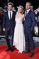 Robert Pattinson, Sienna Miller and Charlie Hunnam at the UK premiere of &quot;The Lost City of Z&quot; at the British Museum, London, UK. <br /> 16 February  2017<br /> Picture: Steve Vas/Featureflash/SilverHub 0208 004 5359 sales@silverhubmedia.com