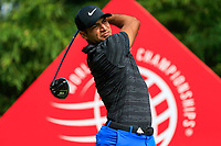 Julian Suri (USA) on the 2nd tee during the 2nd round at the WGC HSBC Champions 2018, Sheshan Golf CLub, Shanghai, China. 26/10/2018.<br /> Picture Fran Caffrey / Golffile.ie<br /> <br /> All photo usage must carry mandatory copyright credit (&copy; Golffile | Fran Caffrey)