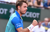 June 9th 2017, Roland Garros, Paris, France; French Open tennis championships; Mens semi-finals:  Stan Wawrinka (sui) during his win over Andy Murray (gbr) in 5 sets