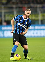 Calcio, Serie A: Inter Milano - Hellas Verona, Giuseppe Meazza stadium, November 9, 2019.<br /> Inter's Milan Skriniar in action during the Italian Serie A football match between Inter and Hellas Verona at Giuseppe Meazza (San Siro) stadium, on November 9, 2019.<br /> UPDATE IMAGES PRESS/Isabella Bonotto