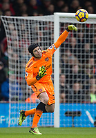 Goalkeeper Petr Cech of Arsenal during the Premier League match between Bournemouth and Arsenal at the Goldsands Stadium, Bournemouth, England on 14 January 2018. Photo by Andy Rowland.