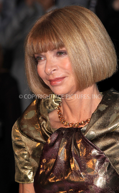 WWW.ACEPIXS.COM . . . . .  ..... . . . . US SALES ONLY . . . . .....September 22 2009, London....Anna Wintour at the Burberry Spring/Summer 2010 show at London Fashion Week on September 22, 2009 in London....Please byline: FAMOUS-ACE PICTURES... . . . .  ....Ace Pictures, Inc:  ..tel: (212) 243 8787 or (646) 769 0430..e-mail: info@acepixs.com..web: http://www.acepixs.com