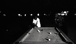 Boys playing billard during the night. Wa, Ghana.