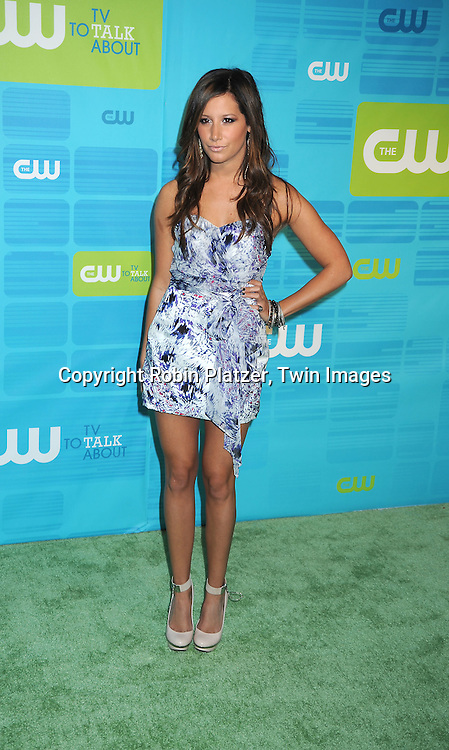 """Ashley Tisdale of """"Hellcats"""" posing for photographers at the CW Network 2010 Upfront on May 20, 2010 at Madison Square Garden in New York City."""