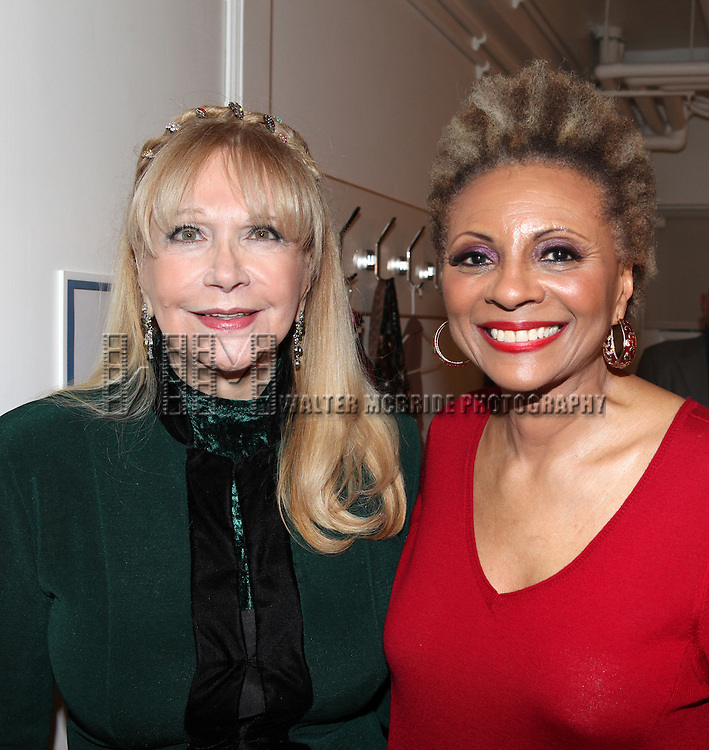 Jacqueline McElroy-Poquette ('Pipe Dreams' Original Broadway Cast Member) & Leslie Uggams.backstage after the Opening Night Performance of New York City Center Encores! 'Pipe Dream'  in New York City on 3/28/2012.