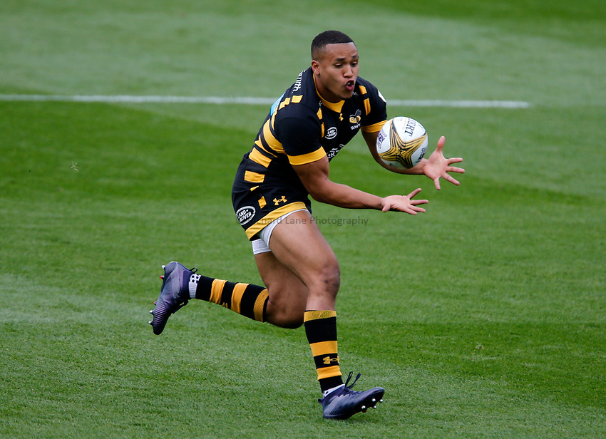 Photo: Richard Lane/Richard Lane Photography. Singha Premiership Rugby 7s, Wasps v Sale Sharks. Cup Quarter Final. 29/07//2017. Wasps' Marcus Watson.
