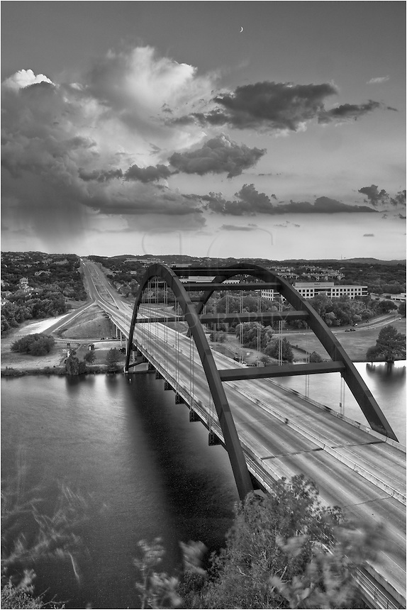 I had gone out to capture the sunset at Pennybacker Bridge (the 360 Bridge) outside of Austin, Texas. What I found was a thunderstorm in the distance which made for some nice images.